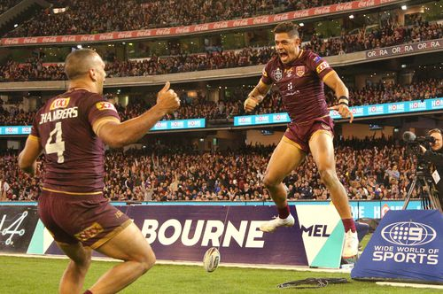 While Queensland had their moments of strength, it wasn't enough for the Maroons to seal victory. Picture: Getty.
