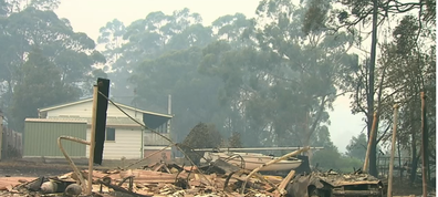 A fast-moving fire devastated the town of Lake Conjola.