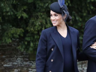 Meghan attends a Christmas service at Sandringham, December 2018