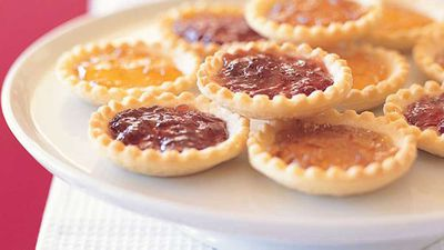 "<a href=""http://kitchen.nine.com.au/2016/05/13/12/29/jam-and-marzipan-tartlets"" target=""_top"">Jam and marzipan tartlets</a> - The Famous Five"