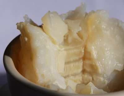 "Lutefisk or 'lye fish' is a Nordic dish where they soak dried whitefish in lye to give it a gelatinous texture, then cook it after soaking it in water to remove the lye.&#160;<span style=""white-space:pre;"">	</span>"