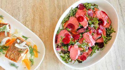"<a href=""http://kitchen.nine.com.au/2016/10/13/13/19/manu-feildels-beef-blood-orange-and-pickled-beetroot-salad-on-a-bed-of-beetroot-hommus"" target=""_top"">Manu Feildel's beef, blood orange and pickled beetroot salad on a bed of beetroot hommus</a>"