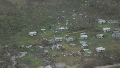 Damage to homes and land at Nakam on Vanua Levu Island. (New Zealand Defence Force)