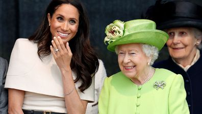 Queen Elizabeth and Meghan Markle.