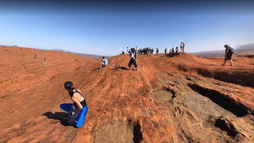 Uluru climb images on Google Maps
