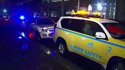 Victoria Police, Australian Federal Police and airport security attended Terminal Four at Melbourne Airport over an undisclosed issue. (9NEWS)