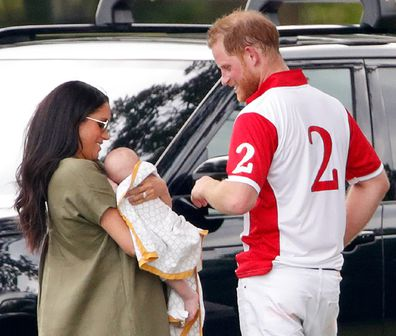 Meghan Harry Archie polo