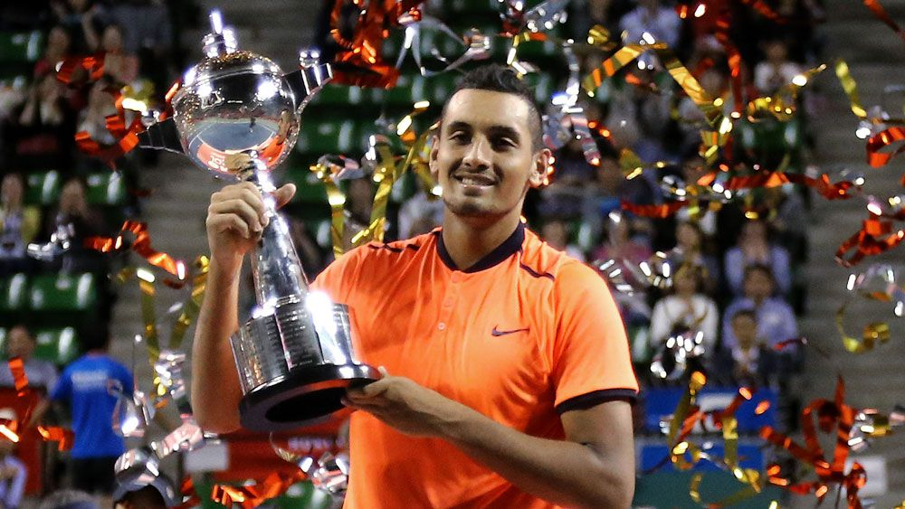 Kyrgios hits high point with Tokyo title