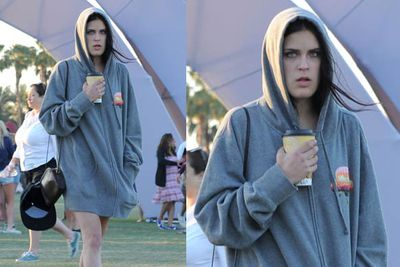 Tallulah is wearing a hoodie and (we hope) something else underneath. <br/><br/><i>Tallulah Willis at Coachella Festival 2012<br/>Image: Snappermedia</i>