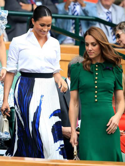 Duchess of Cambridge and Duchess of Sussex, Wimbledon 2019