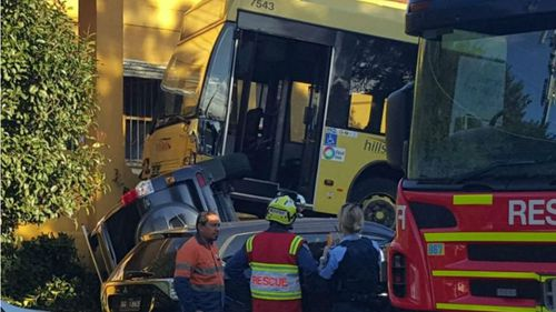 The bus driver was taken to Westmead Hospital for assessment. (9NEWS)