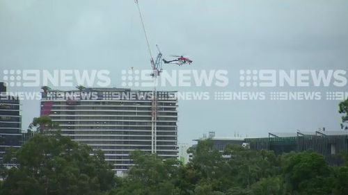 A helicopter has been called in to help find the missing man. (9NEWS)