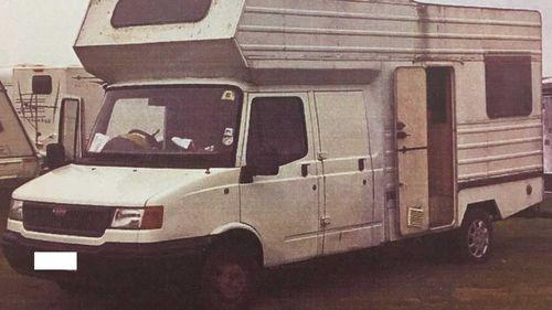 The camper van belonging to Barry Radford.