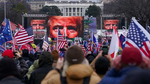 The storming of the US Capitol happened immediately following Donald Trump's rally last week.