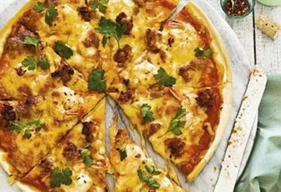 Friday: Garlic prawn, chorizo & chilli pizza