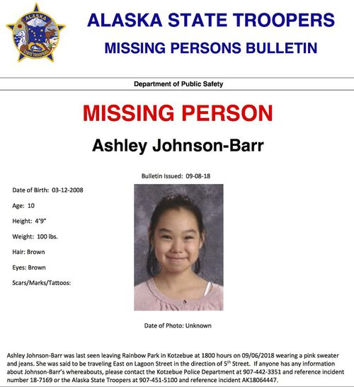 The FBI was flown into the Alaskan community where Ashley Johnson-Barr disappeared. A man has now been charged over her death.