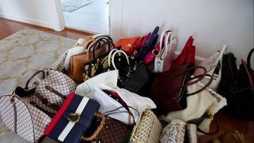 NSW Police uncovered luxury handbags at a home in Greenacre.