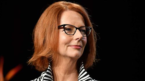 Julia Gillard said men must do more to call out sexism.