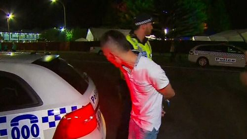 9NEWS captures caught Filip Manevski-Radin punching a teenage girl at Schoolies in Victor Harbour last year. (9NEWS)