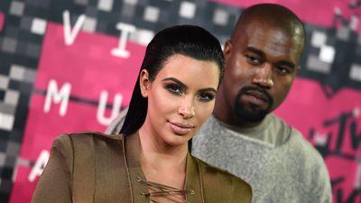 Kanye West keeping a close eye on his wife Kim Kardashian-West. (AAP)