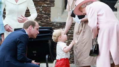 Prince George and Princess Charlotte, St. Mary Magdalene Church, July 2015