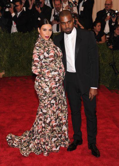 Kanye West and Kim Kardashian at the 2013 Met Gala