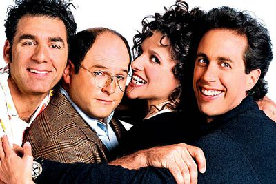 <B>When it finished:</B> 1998.<br/><br/><B>Why it sucked:</B> This notorious final episode ends with Jerry Seinfeld and friends being thrown into jail for all their awful behaviour over the years, with the people they've mistreated giving damning testimony against them. It's all awfully contrived, though the finale was redeemed in 2009 when the <I>Seinfeld</I> cast unofficially reunited for a special <I>Curb Your Enthusiasm</I> storyline which gave the series the sign-off it deserved.