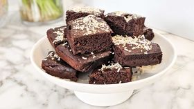 Hidden black bean chocolate brownie