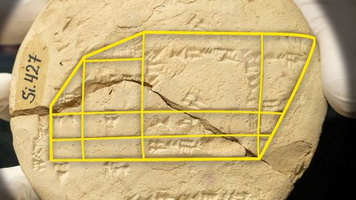 The tablet features the earliest known instance of Pythagorean triples.