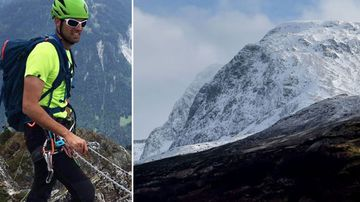 Mathieu Biselx and mountain Ben Nevis
