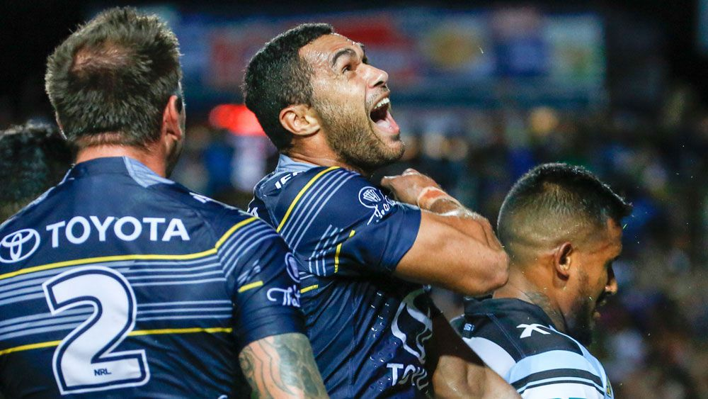 Cowboys beat Sharks in champs' NRL opener