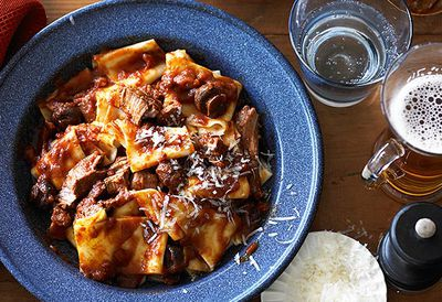 Pappardelle with lamb stew