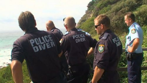 Police say the man jumped into the water at Boomerang Beach, near Forster.