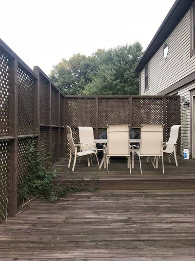 Back deck - BEFORE