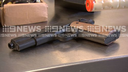 A BB gun that weighs the same as a handgun was among the 43,000 weapons seized by Australian Border Force last year.