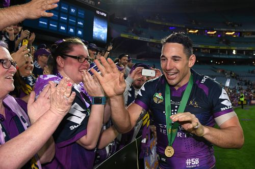 Billy Slater's future remains uncertain despite a heroic effort in last night's grand final. (AAP)