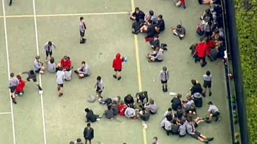 Authorities were called to the school around 1:30pm. (9NEWS)