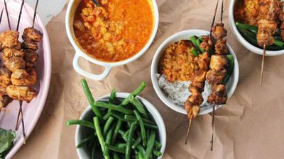 """<a href=""""http://kitchen.nine.com.au/2017/02/17/20/00/chicken-tikka-masala"""" target=""""_top"""">Chicken tikka masala</a><br /> <br /> <a href=""""http://kitchen.nine.com.au/2017/02/17/20/21/sarah-wilsons-anti-inflammatory-ingredients"""" target=""""_top"""">RELATED: Sarah Wilson fights puffiness with food — recipes for inflammation</a>"""