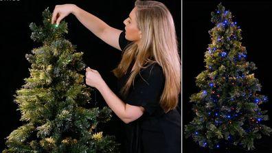 Hang Your Christmas Tree Lights Vertically