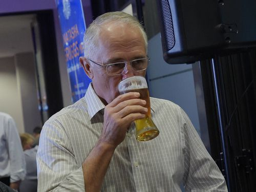 """Malcolm Turnbull (pictured at a previous """"politics at the pub"""" event) was abused in a pub by a man who has now been accused of attempted murder. (AAP)"""