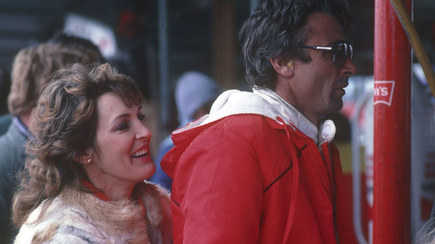 Bev Brock with Peter in 1984.