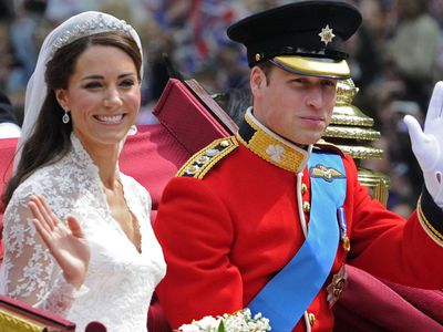 Prince William and Kate's wedding day