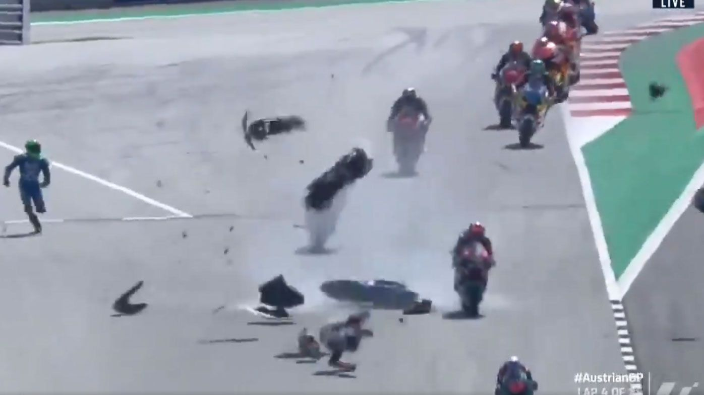 'Scary to see': Horrific Moto2 crash rocks Austrian Grand Prix