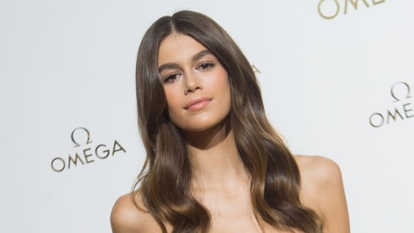 Kaia Gerber is following in her mother Cindy Crawford's famous footsteps. Image: Getty