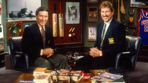 Sutcliffe with the late Max Walker. (Nine Network)
