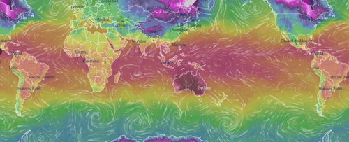 This heat map shows that Australia is the hottest place in the world right now.