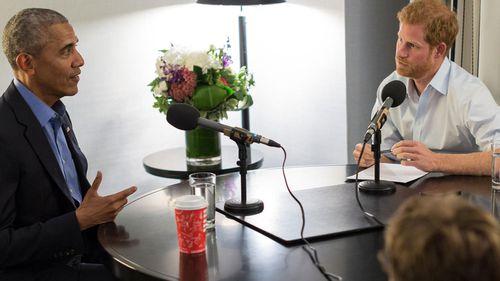 Prince Harry interviews former president Barack Obama (BBC Radio 4 Today/PA Wire)