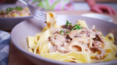 Beef stroganoff that's easy enough to make tonight