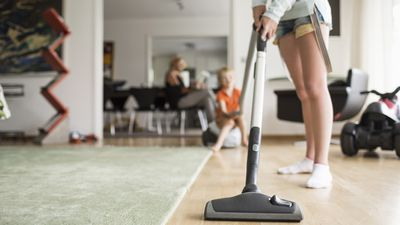 Vacuuming shared areas