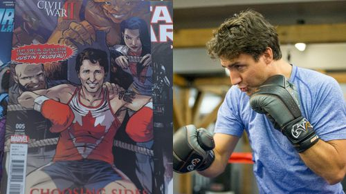 Canadian President Justin Trudeau becomes a Marvel cartoon superhero